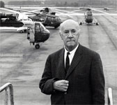 Igor Sikorsky and his helicopters.  Credit: Igor I. Sikorsky Historical Archives, Inc.