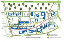 Кампус КПІ. Схема розташування парковок та стоянок автотранспорту на території університету