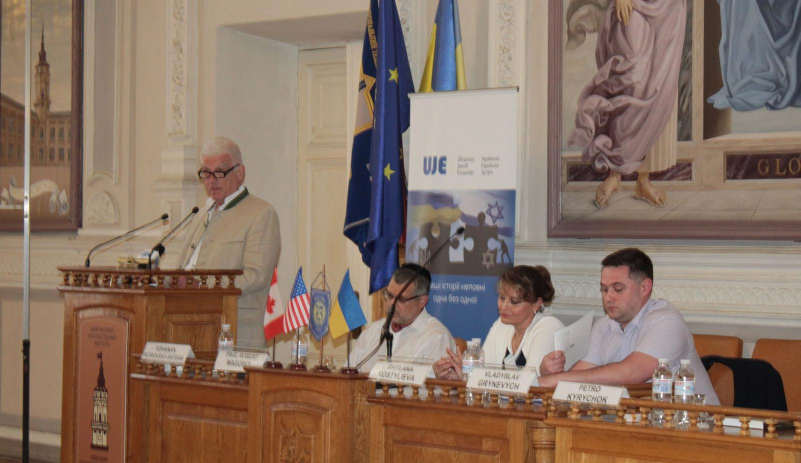 """2019.05.29 Historians P-R.Mahochiy and Y.Petrovsky-Shtern have presented their book """"Jewries and Ukrainians: millennium of coexistence"""" in the Igor Sikorsky Polytechnic Institute"""""""