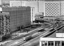 Кампус КПІ. 22 корпус, швидкісний трамвай, гуртожитки, 80-ті роки / http://rt91-1985.at.ua/photo/kiev_v_80_e_gody_khkh_veka/12?photo=125