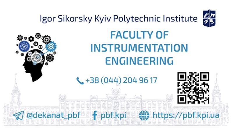 Faculty Of Instrumentation Engineering Igor Sikorsky Kyiv Polytechnic Institute
